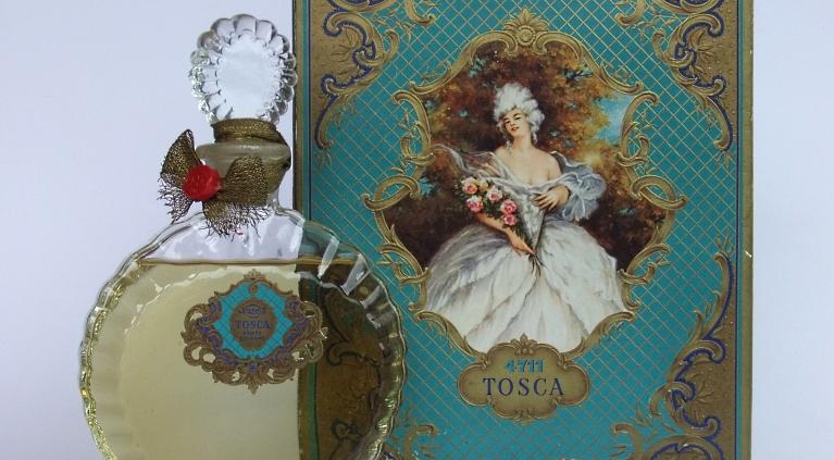 Alter Flakon Tosca mit Geschenkpackung